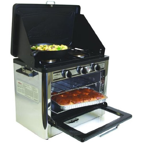 Camp Chef Camping Outdoor Oven with 2 Burner Camping Stove, Outdoor Stuffs