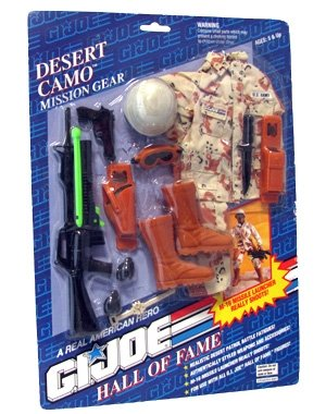 Gear Mission Joe Gi (Desert Camo GI Joe Hall of Fame 1993 Mission Gear)