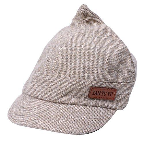Baby Hats With Ears Baseball Cap Baby Boys Girls Sun Hat (Beige) - 2