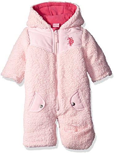 U.S. Polo Assn. Baby Girls' Whubby Shell Pram, Light Pink, 12 Months