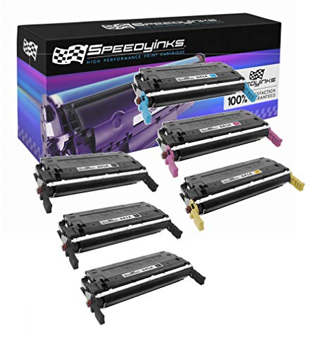 Speedy Inks Remanufactured Toner Cartridge Replacement for HP 641A (3 Black, 1 Cyan, 1 Magenta, 1 Yellow, 6-Pack)
