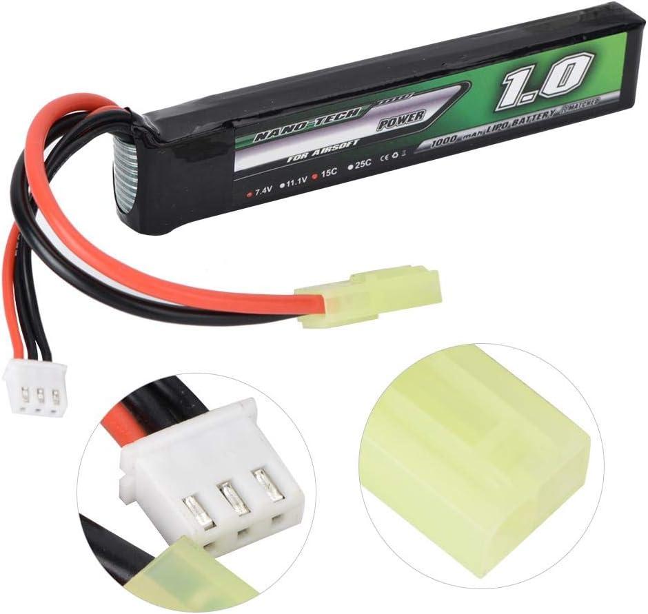 1000mAh 2S 7.4V 15C Plug Bater/ía de Litio