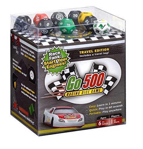 Go500  Nascar Dice Game   Car Racing Dice Game   Super Fun Nascar Game   Ultra Portable  Easy  And Fun Dice Game  Perfect For Travel  Home  Parties  Gifts  Stocking Stuffers  Get Togethers