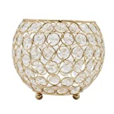 Joynest Crystal Tea Light Candle Lantern Holders, Wedding Coffee Table Decorative Centerpieces for Home Décor Party Mothers Day Birthday House Gifts (6'', Gold)