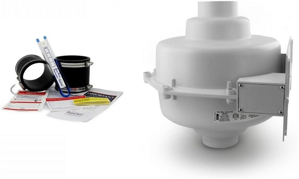 RadonAway GP501 Radon Fan & Install kit: Two 3