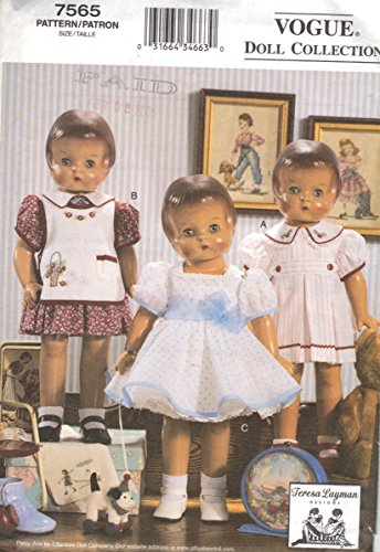 Vogue Pattern 7565 Vogue Doll Collection 18