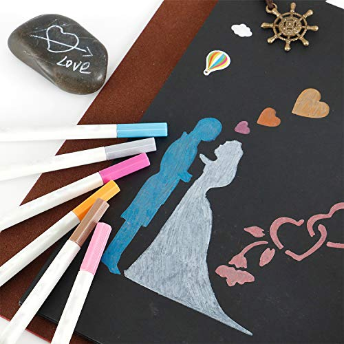 Camilla Baby Scrapbook, Wood Cover Photo Album Picture Book with Black Card Pages for Guest Book Family Couples Graduation Travel Memento of Beautiful Memories by Camilla Baby (Image #7)