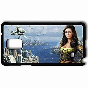 Personalized Samsung Note 4 Cell phone Case/Cover Skin Anno Black