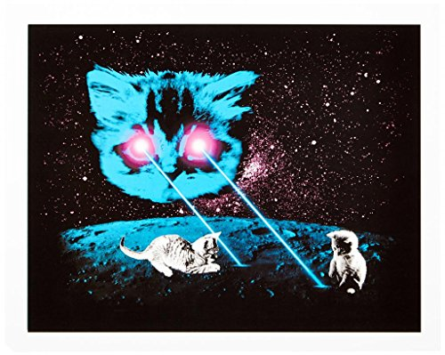 Ugly Baby Laser Cat With Kittens Print - Medium