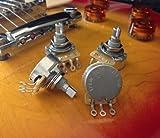 Set of 4 (4X) CTS 500K SHORT Split Shaft Audio Taper Potentiometers
