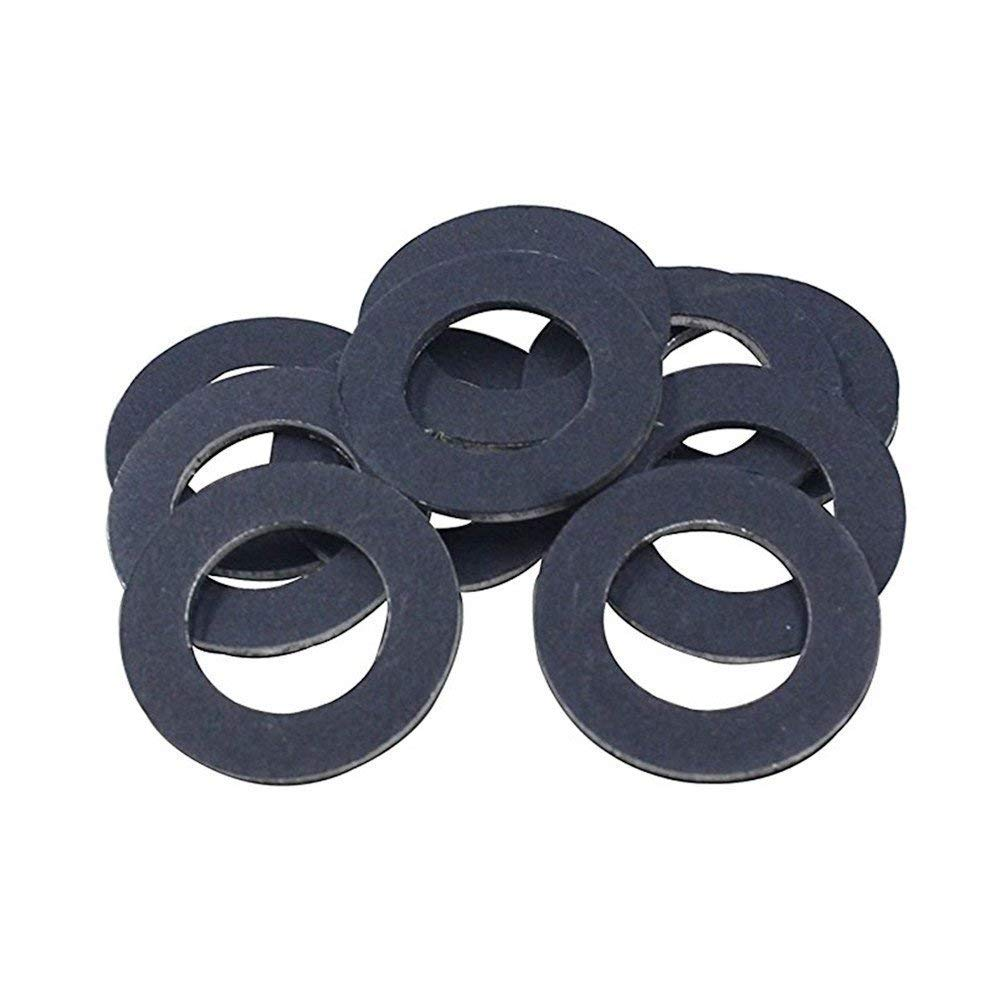 HIFROM Oil Drain Plug Gaskets Seal Washer Set for Toyota 90430-12031 - Black (20pcs)