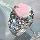 Letdown_rings Luxury Vintage Rose with Diamonds