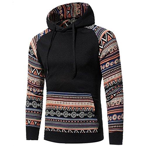 Shubuy 2018 Mens Shirt, Autumn Winter Men Retro Long Sleeve Hoodie Hooded...