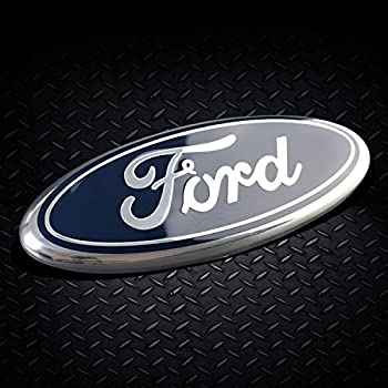 11-16 Explorer 06-11 Ranger Red Decal Badge Nameplate for 04-14 F150 F250 F350 Front Tailgate Emblem Compatible With Ford Oval 9X3.5 11-14 Edge