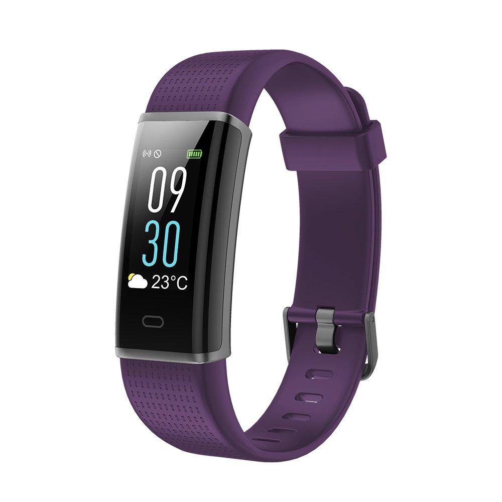 Vigorun Fitness Armband Farbdisplay Fitness Tracker mit Pulsmesser IP68 Wasserdicht Aktivitä tstracker Fitnessuhr SMS/SNS Alarm Schrittzä hler fü r Mä nner, Frauen und Kinder 130c-blk