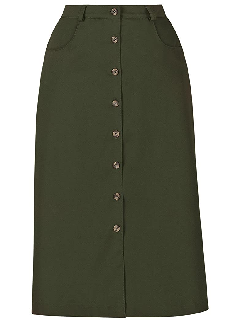 A-Line Button-Front Skirt AmeriMark 055278