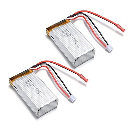 Qsmily® 2PCS 7.4V 1500MAH Lipo Battery for Wltoys V913 RC Helicopter L959 L969 L202 K959 RC Car