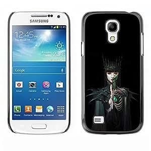Caucho caso de Shell duro de la cubierta de accesorios de protección BY RAYDREAMMM - Samsung Galaxy S4 Mini i9190 MINI VERSION! - Woman Black Dark Fairytale