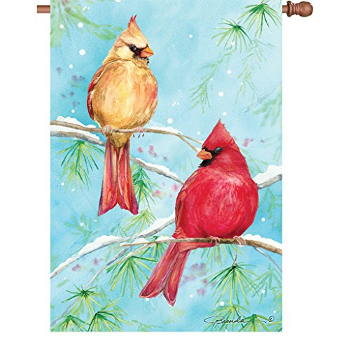 28 In. Flag - Winter Cardinal (Banner Sided Flag Premier 2)