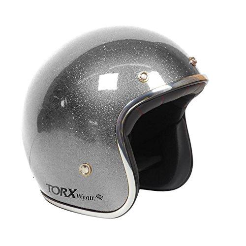 TORX Motorradhelme Wyatt Shiny Glitter anthrazit L