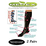 Medex Lab Compression Socks For Men & Women - Knee High, Anti-Swelling & Varicose Veins Graduated Compression Socks Great for Nurses and Work or Sports