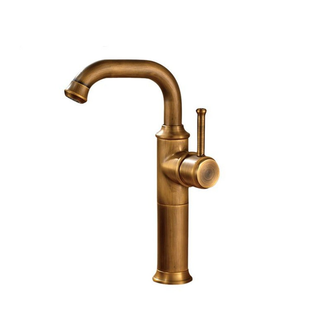 ANNTYE Waschtischarmatur Bad Mischbatterie Badarmatur Waschbecken Kupfer drehbare Messing antik Warmes und kaltes Wasser mit Einem Hebel der Einhebelsteuerung Badezimmer Waschtischmischer