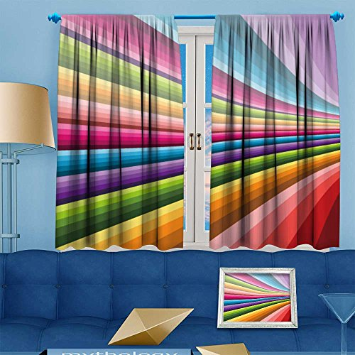 (Thermal Weaved Blackout Curtain, Abstract background Vector Can be used for wallpaper,web page background,web banners Room Darkening & Noise Reduction Fabric - Premium Draperies, 55