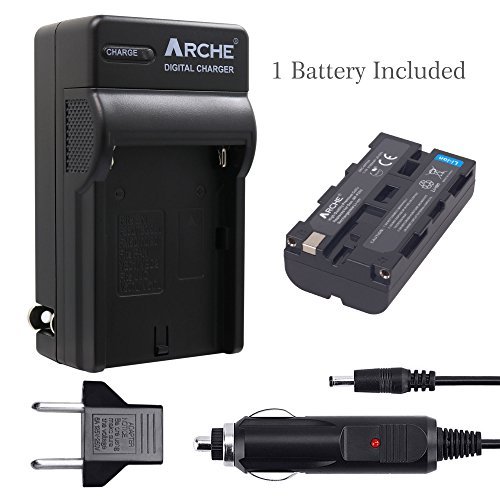 ARCHE NP-F550 F550 NP-F330 NP-F570 Battery <1 Pack> and Rapid Charger for [Sony NP-F330 NP-F530 NP-F570 and Sony CCD-RV100 CCD-RV200 SC5 SC9 TR1 TR940 TR917 Camera CN-160 CN-216 LED Video Light] by ARCHE