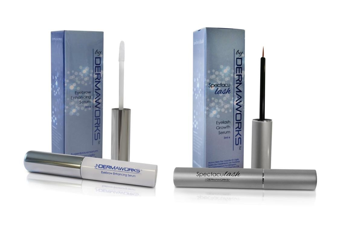 DERMAWORKS Eyebrow Growth Enhancing Serum - Grow Stronger, Fuller, Thicker, Healthier, Shapely Eyebrows. Repair and Regrow Weak and Overplucked Eyebrows (1 x Brow)