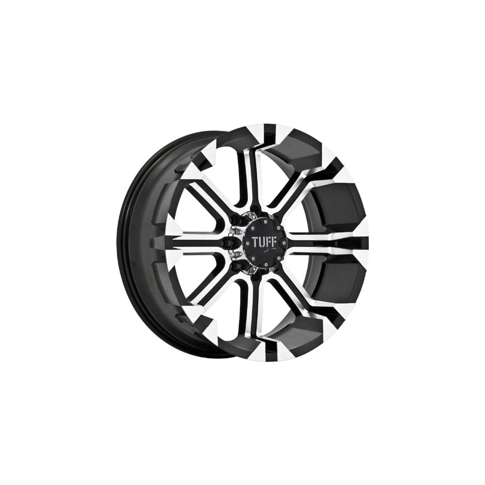 Tuff T13 16 Machined Black Wheel / Rim 6x5.5 with a  13mm Offset and a 108.0 Hub Bore. Partnumber T13EK6M13N108