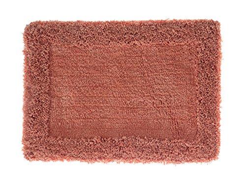 Tapete de Banheiro Levitare 70.00 cm x 50.00 cm, Home Design, Corttex, Felpa 100% Poliéster e Base 100% Algodão, Coral