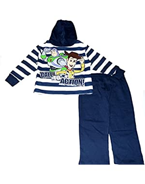 Disney Toy Story Little Boys' Toddler Fleece Hooded 2 Piece Jog Set Call to Action