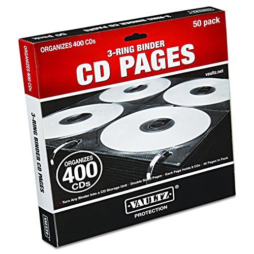 Vaultz CD Binder Pages, 8 CD Capacity per Sheet
