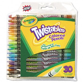Crayola® Twistables® Colored Pencils, 30-Pack PENCIL,CLR,TWST,30/PK,AST (Pack of10)