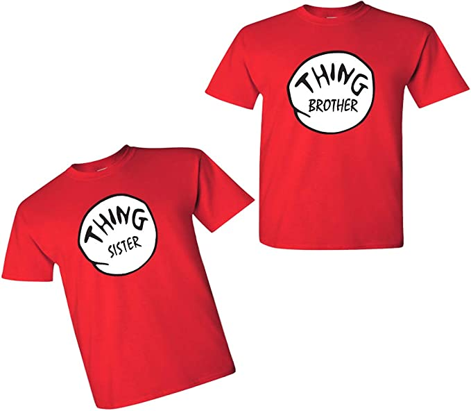 Bro 2 Kids T-Shirt Brother Seuss Sister Siblings Thing Dr 1 2 3 Crewneck Tee Top