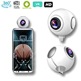 Indigi Pro Android Camera 360 Degree Fisheye Panoramic Kit - microUSB & Type-C Compatible - Facebook and YouTube Live Ready