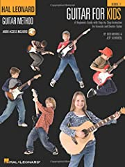 """(Guitar Method). Guitar for Kids is a fun, easy course that teaches children to play guitar faster than ever before. Popular songs such as """"Yellow Submarine,"""" """"Hokey Pokey,"""" """"I'm a Believer,"""" """"Surfin' U.S.A.,"""" """"This Land Is Your Land"""" and """"Ho..."""