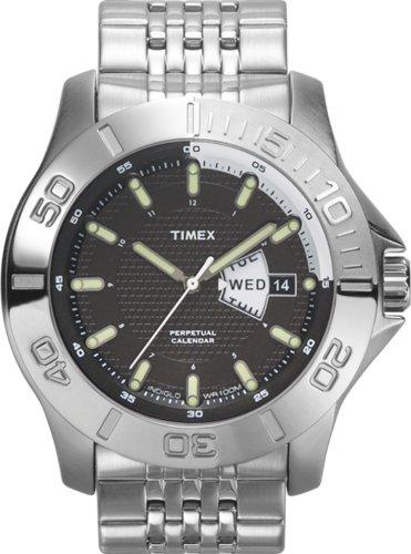 Timex Perpetual Calendar Watch (Timex Men's T2J881 Premium Collection Silver-Tone Perpetual Calendar Stainless Steel Bracelet Watch)