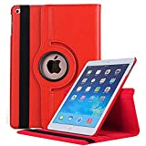 Jennyfly Case for iPad Mini 5, 360 Degree Rotating Smooth PU Leather Hand-Free Stand Slim Easy Viewing Full Body Protection Case with Multiple Viewing Angles for 7.9 inch 2019 iPad Mini 5 - Red