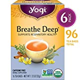 Yogi Tea - Breathe Deep - Supports Respiratory Health - 6 Pack, 96 Tea Bags Total