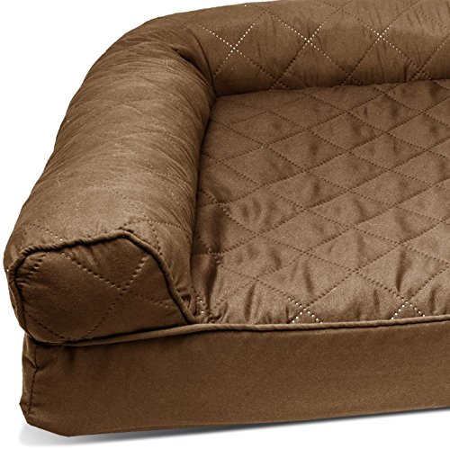 ZT Pets Doggie Bed Medium Orthopedic Washable - Therapeutic Pet Sofa Bolster Couch - Best Pup Comfort Bundle w Rope Toy (Brown) by ZT Pets (Image #2)