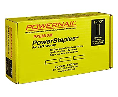 POWERNAIL PowerStaples 1-1/2 in. 15-1/2-Gauge Hardwood Flooring Staples 6 Boxes of 1,000