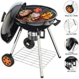 Charcoal Grill, 22.5 inch Diameter One-touch Clean System(Ash Leak) Premium Charcoal Grill, Thickened Material Temperature Thermal Control and Insulation- Enjoy Your BBQ Time(Suitable for 5-12 people)