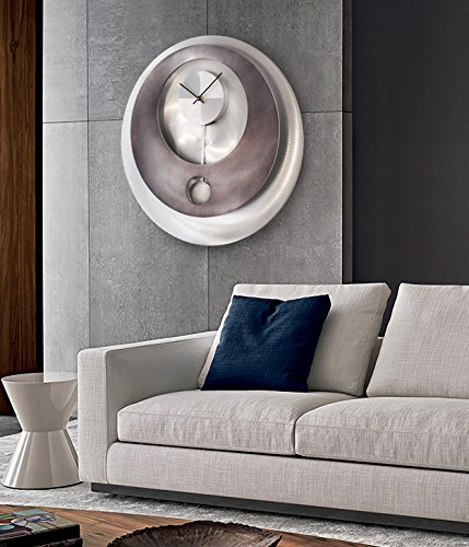 Harbor Gray Wall Clock, Available in 8 Sizes, Most Sizes Ship 2-3 Days, Whisper Quiet.