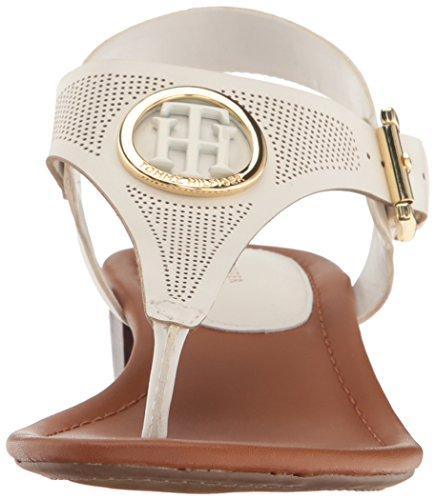 White Kandess Heeled Hilfiger Women's Tommy Sandal qwZSXcf