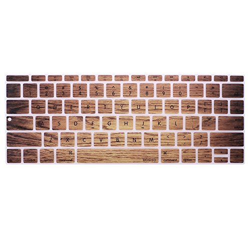 Board Protective Silicone Cover - GerTong For Mackbook Air 13 inch Keyboard Cover For MacBook Pro 13' with Retina Silicone Skin Laptop Key Touch Fingerboard Protective Film (Light Brown)