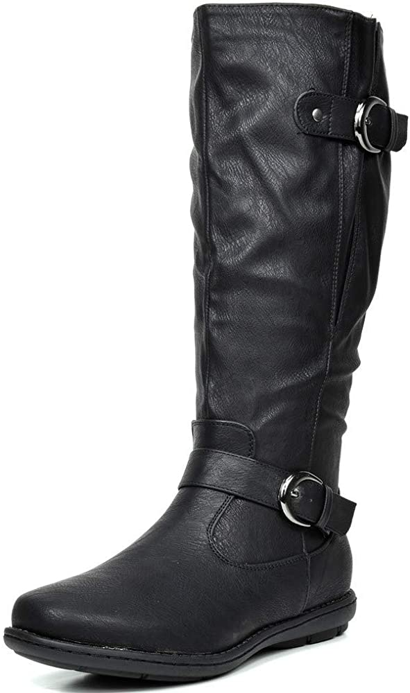 Faux Fur-Lined Knee High Winter Boots