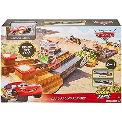 Disney Pixar Cars XRS Drag Racing Playset: Toys & Games