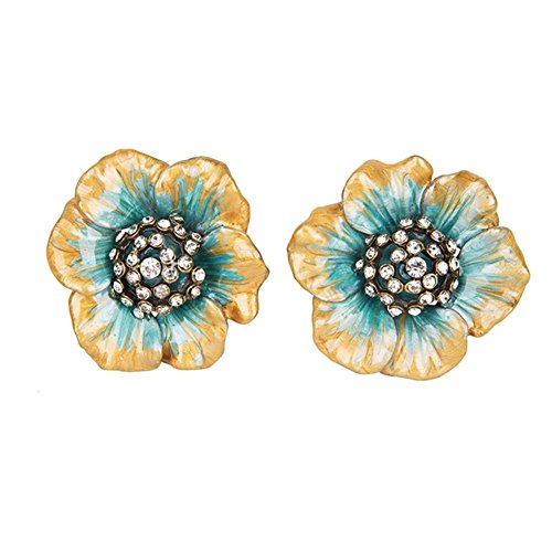 NIKKY HOME Decorative Flower Shape Metal Knobs Pull Handle for Door Cabinet Drawer Pack of 2 (Drawer Pulls Flower)