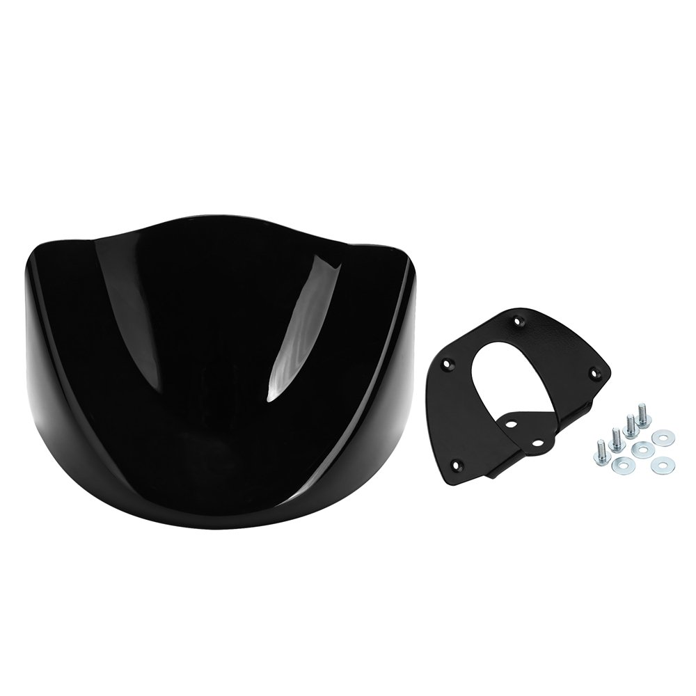 ECLEAR Front Spoiler Chin Fairing Cover Mounting Bracket Air Dam For Harley 883 1200 XL Sportster - Matt Black